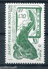 ST-PIERRE-et-MIQUELON, 1989, timbre 503, POISSON, LA PECHE, neuf**