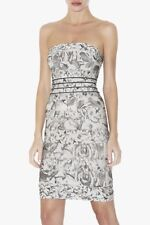 authentic Herve Leger dove gray bandage cocktail Oriana dress new sz S strapless