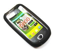Negro Gel Cover Para Samsung Galaxy 3 Apollo I5800 teléfono móvil Apolo cubierta del Reino Unido