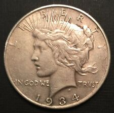 1934-Micro D Peace Dollar, Better Date ** Free Shipping!