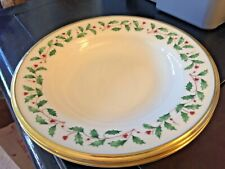 "Lenox Holiday (1) Rimmed Soup / Pasta Bowl 9"" MINT Condition (12 Available)"