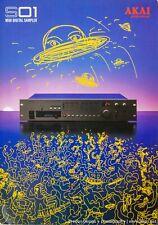 AKAI S01 MIDI Digital Sampler Module 4-Page Full Color Brochure VGC