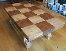 New hand made contemporary rustic coffee table with chequered top