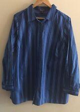 Roaman's Plus 20W  %100 Cotton Button Down Long Sleeves Shirt New