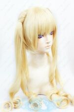 Karneval Tsukumo Long Styled Wavy Ponytail Blond Cosplay Wig