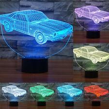 Home 3D Car Night Light 7 Color Change LED Desk Table Lamp Xmas Gift 3DCar light