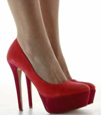 Suede Court Multi-Coloured Heels for Women