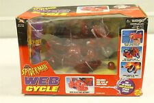 ToyBiz 47615 Marvel Spider-Man Web Cycle / Side Car / Can of Web-Fluid NIB