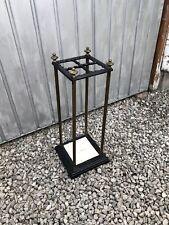 More details for antique brass iron umbrella stand