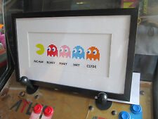 PAC MAN FRAMED WALL ART DECORATION Blink MIDWAY ARCADE VIDEO GAME COIN AMUSEMENT