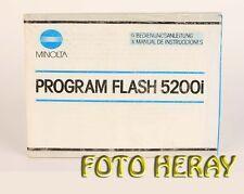 Minolta Program Flash 5200i Bed-Anleitung deutsch / Español Instrucciones 03167
