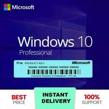 INSTANT WINDOWS 10 PROFESSIONAL PRO 32/64 BIT GENUINE ACTIVATION LICENSE KEY