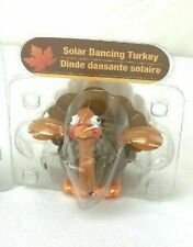 NEW Solar Powered Dancing Fall Harvest Thanksgiving Turkey Bobble Head Toy