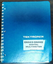 Tektronix DM43 - DM40 Digital Multi meter User & Service Manual