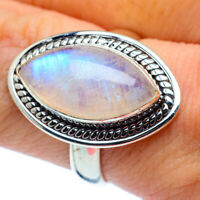 Rainbow Moonstone 925 Sterling Silver Ring Size 8.25 Ana Co Jewelry R37783F