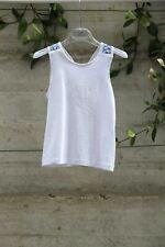 Girls White Cotton Top by Italian Designer Piccola Ludo