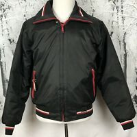 Yamaha Maxim Wear Vintage Men's Snowmobile Jacket Red Black Bomber Size M