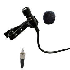 Lavalier Lapel Microphone w/ Screw Lock Connector 3.5mm for Sennheiser Wireless