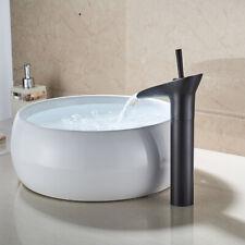 Oil Rubbed Bronze Single Handl Bathroom Waterfall Basin Sink Mixer Tap Faucet