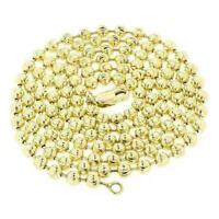 925 STERLING SILVER GOLD MOON CUT CHAIN NECKLACE 2.50mm 16''-30'' - Italy