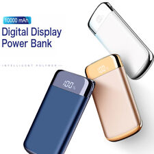 10000mah Portable LCD Power Bank 2USB Dual LED Battery Charger For iPhone7 7Plus
