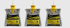 3~Rescue YELLOW JACKET TRAP Hornet Wasp Hanging Non-Toxic Disposable YJTD-DB12-E