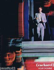 PUBLICITE ADVERTISING 095 1981 Cacharel pour homme