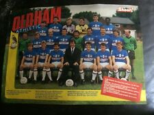 TEAM GROUP PHOTO POSTER / FOTO DEL EQUIPO - OLDHAM ATHLETIC 1986-87  BY SHOOT