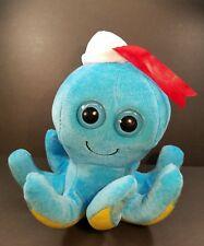 "Fiesta Universal Studios Blue Big Eye Octopus w/sailor hat 8.5"" NWOT"