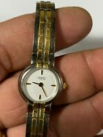 Ladies Dual Tone Caravelle By Bulova Analog Watch