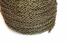 10ft 3x2m Antique Bronze Cable Chain links-unsoldered 1-3 day Shipping