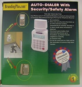 Auto-Dialer with Security Safety Alarm Up 5 numbers Loud Alarm Chime Siren 105dB