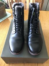 Timberland Men's Kendrick Shearling-Lined Boots Winter Black Leather 9.5 Medium