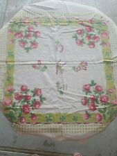 Vintage 2 cotton dish cloths good luck theme.    4 leaf clovers Startex