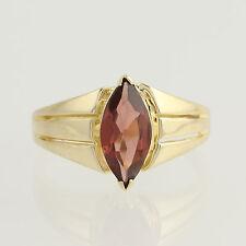 Garnet Solitaire Ring - 14k Yellow Gold January Birthstone 2.00ctw