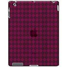 AMZER Gloss Luxe Argyle TPU Soft Gel Skin Case Cover for Apple iPad 2 3 4 - Pink