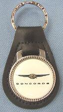 White Chrysler CONCORDE Black Leather Keyring 1993 1994 1995 1996 1997 1998 1999