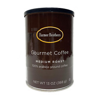 FARMER BROTHERS MEDIUM ROAST GROUND COFFEE 100% ARABICA 13 OZ CAN