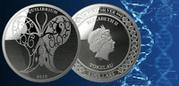 2019 Tokelau Equilibrium Silver Coin – 1 oz SILVER SCIENCE BUTTERFLY  IN-STOCK!!