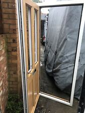2 X PVC  Composite Doors ( 1 Black & 1 Brown) With Frames.