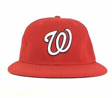 MLB Washington Nationals New Era 5950 Red Baseball Cap Hat Fitted Sz 6 7/8 Poly