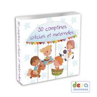 50 comptines crèche et maternelle  (Album 2CD + Livret illustré)