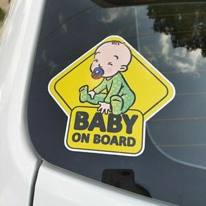 Biebies Baby on Board Safety Cartoon Sticker for Your Car Vehicle Children Care