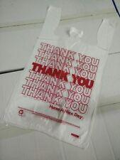 500 Pcs 16 T Shirt Bag Thank You Plastic Retail Carry Out Bags 115x6x21