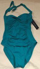 LA Blanca Emeral Green One-Piece Bathing Suit Size 6