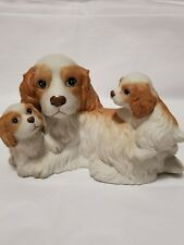Cocker Spaniel Puppies and Mother Homco 1434 Vintage Figurine