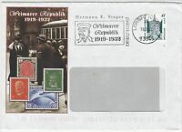 Germany 2002 Weimarer Republic 1919-1932 Slogan Cancel Stamps Cover Ref 25289