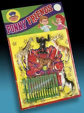AMIGOS DIVERTIDOS. HONG KONG ZOO SET + caja > caja orig. ampolla tarjeta 70 animales divertidos