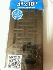 Decor Grates Ajh410-Rb Oriental Floor Register Rubbed Bronze 4 x 10