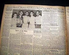 THE MASTERS TOURNAMENT jimmy Demaret Wins Golf Major at Augusta 1947 Newspaper